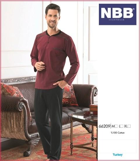 Erkek Patlı Uzun Kol Pijama Takım NBB 66209