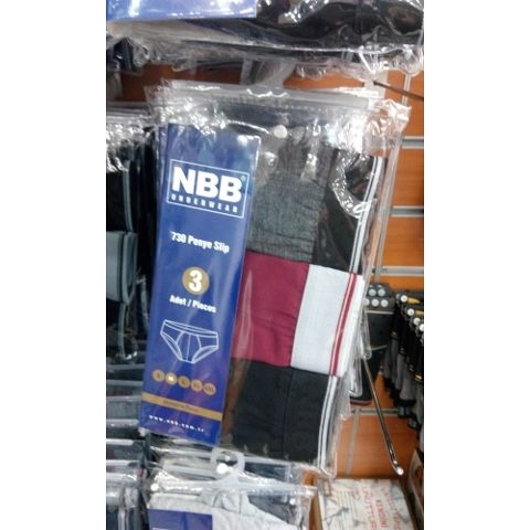 Erkek Penye Slip 3 Lü Paket NBB 730