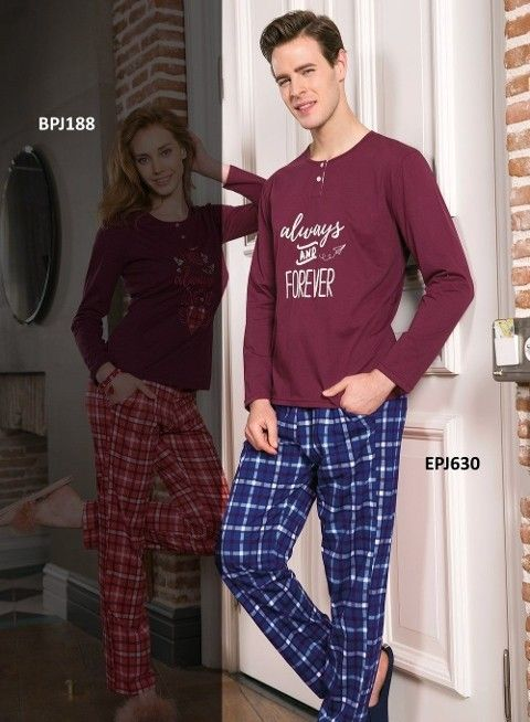 Erkek Pijama Takımı Süprem 2Li Takım Sevgili Takım Yeni İnci EPJ630