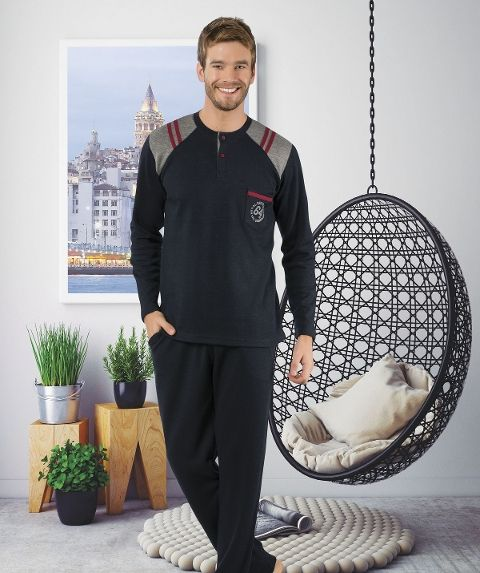 Erkek Pijama Takımı Hmd 30039