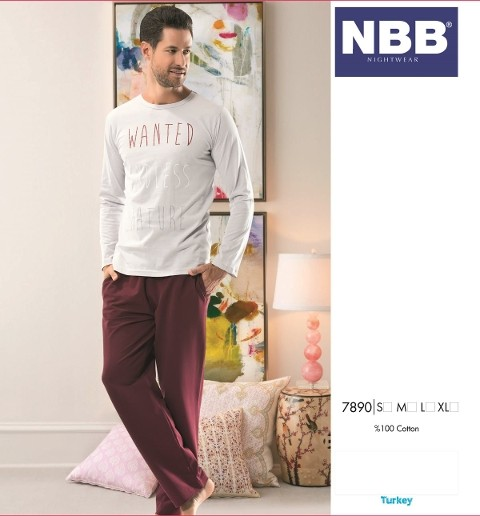 Erkek Uzun Kol Pijama NBB 7890