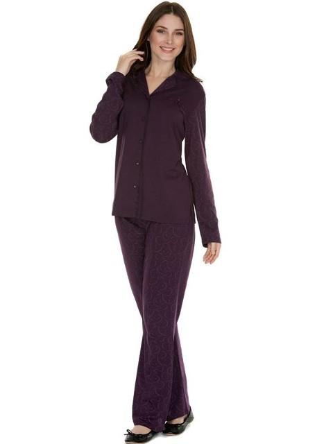 Eros Modal Emprime Gömlek Bayan Pijama Takımı