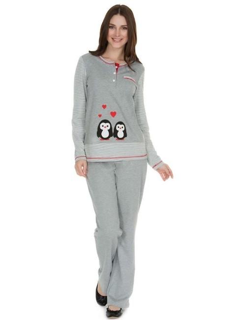 Eros Penguenli Pijama Takım