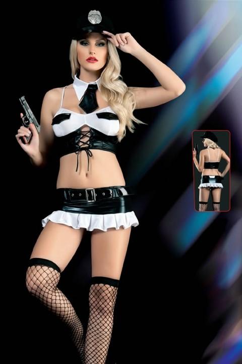 Erotica Çok Seksi Kadın Polis Fantezi Kostüm