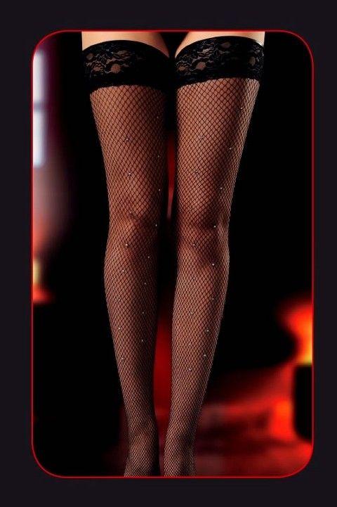 Erotica Dantelli Fantezi File Jartiyer Çorabı