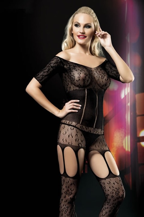 Erotica Jartiyer Görünümlü Seksi Vücut Çorabı