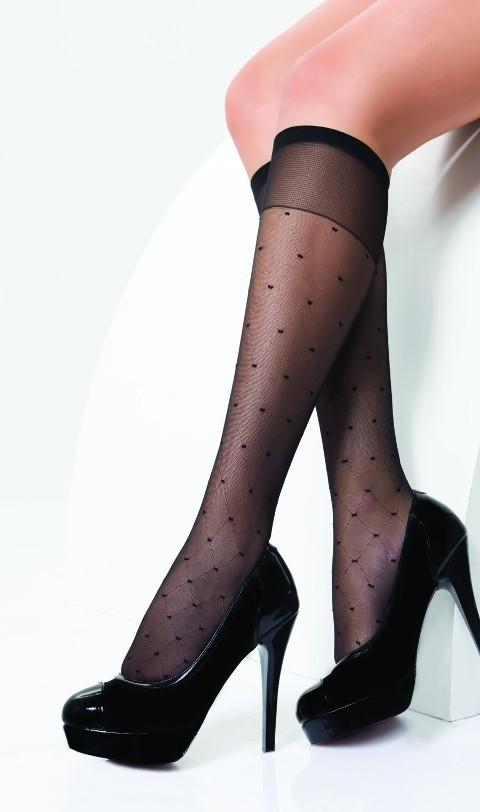 Daymod Esta Desenli Dizaltı Çorap