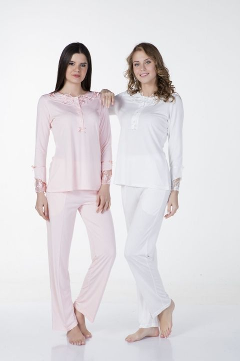 Fantazi Uzun Kol Pijama Bone Club 4339