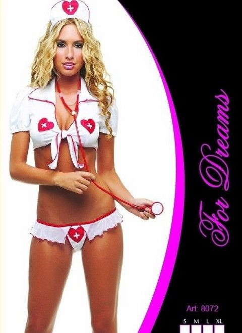 Fantezi Hemşire Kostümü Bolerolu For Dreams 8072