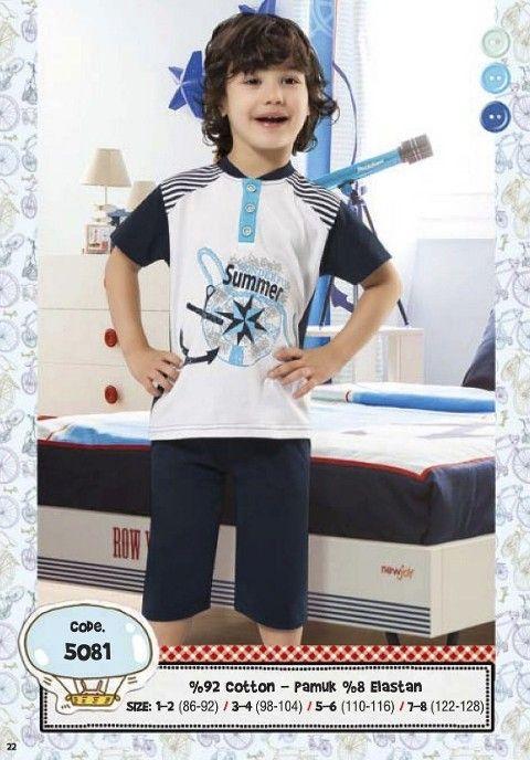 Hmd Erkek Çocuk Summer Baskılı Kapri Takımı 5081