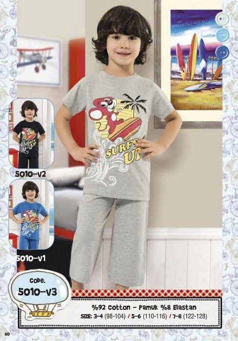 Hmd Erkek Çocuk Surf Baskılı Kapri Takımı 5010