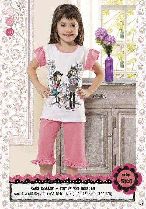 Hmd Kız Çocuk Gençkız Baskılı Kapri Takım 5101