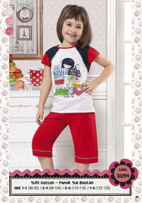 Hmd Kız Çocuk Kapri Takım 5094