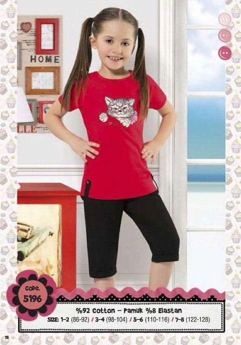 Hmd Kız Çocuk Kapri Takım 5196