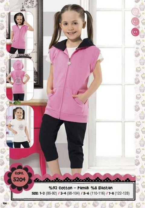 Hmd Kız Çocuk Kapri Takım 5204