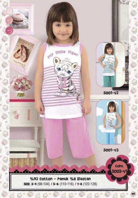 Hmd Kız Çocuk Kapri Takımı 5003
