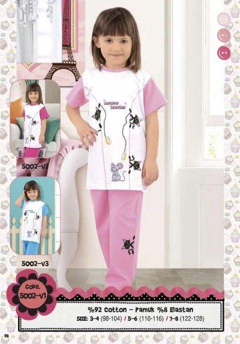 Hmd Kız Çocuk Pijama Takımı 5002
