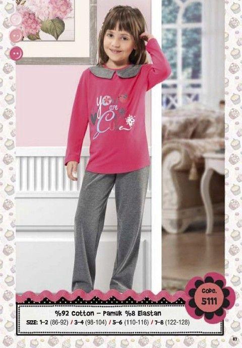 Hmd Kız Çocuk Pijama Takımı 5111