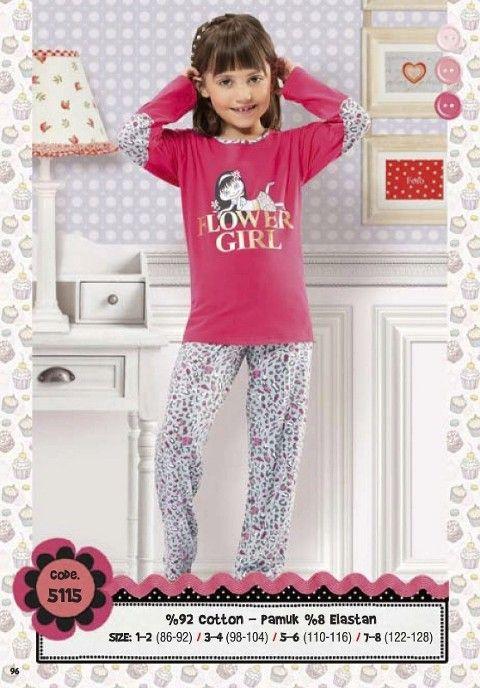 Hmd Kız Çocuk Pijama Takımı 5115