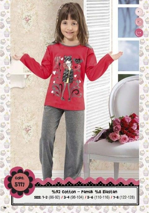 Hmd Kız Çocuk Pijama Takımı 5117