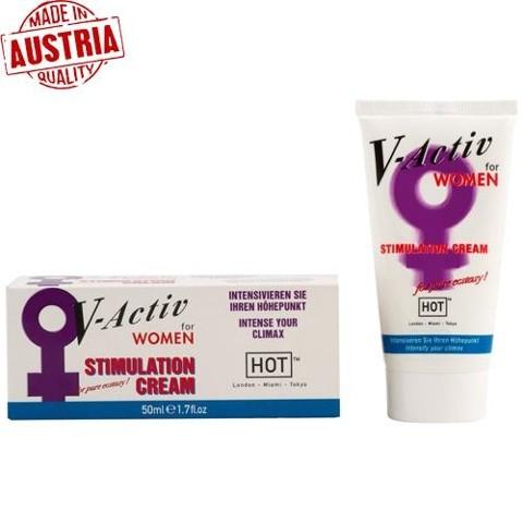 Hot V-Activ Stimulation Cream For Women