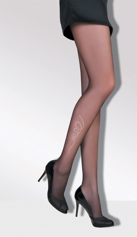Daymod İnci Taşlı Desenli Külotlu Çorap