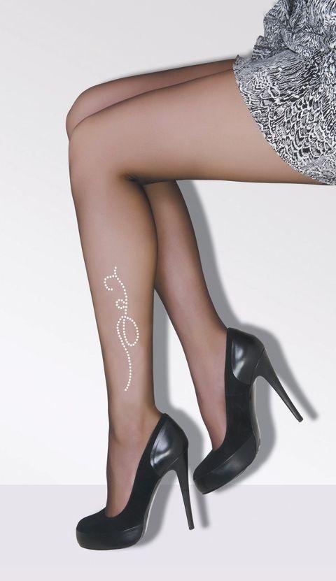 Daymod İrmak Taşlı Desenli Külotlu Çorap