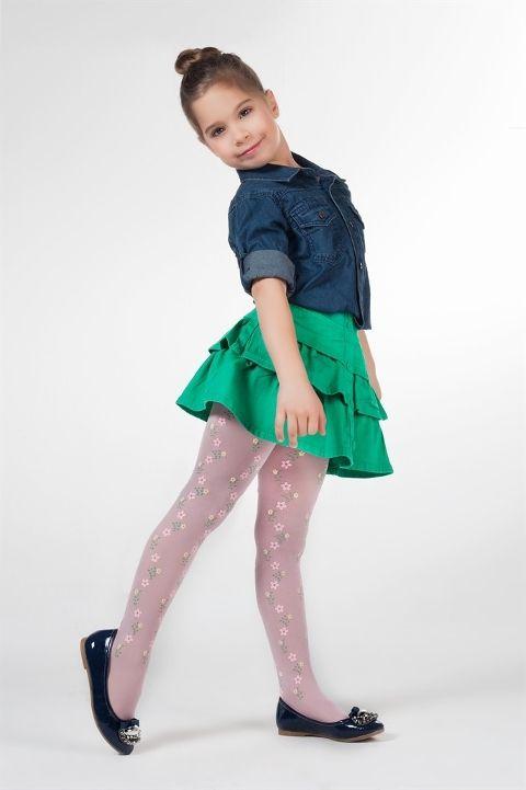 Daymod İşık Desenli Külotlu Çocuk Çorabı