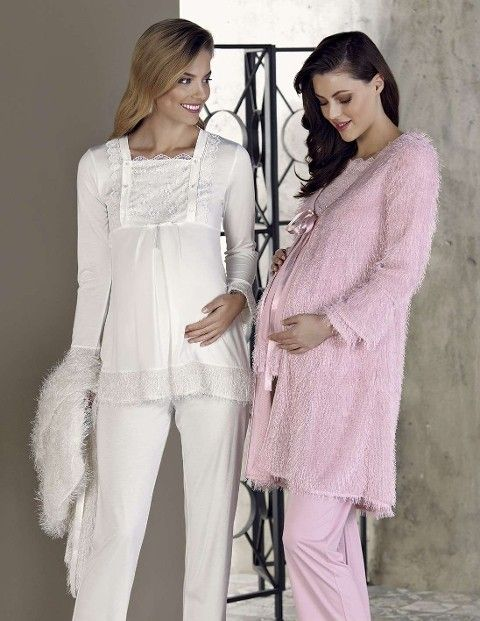 Kadın Pijama Takımı 3 Lü Lohusa Peluş Artış 2305