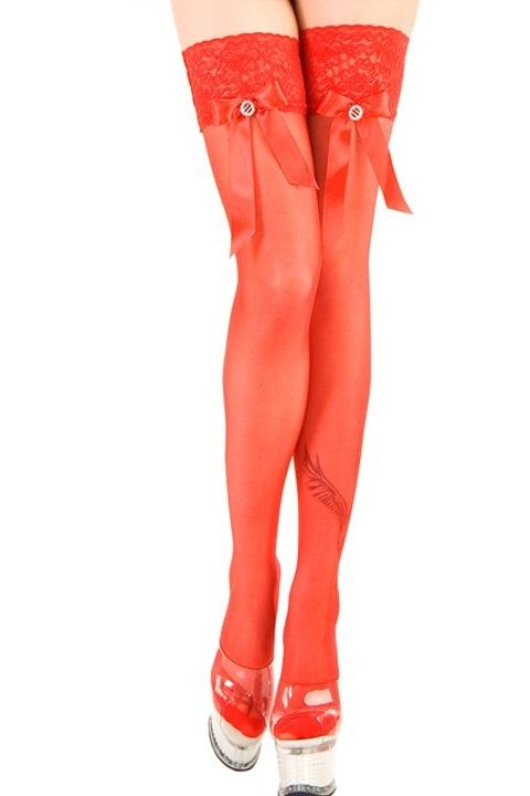 Fantazi Jartiyer Çorap La Blinque Kırmızı Aksesuarlı Jartiyer Çorap 950