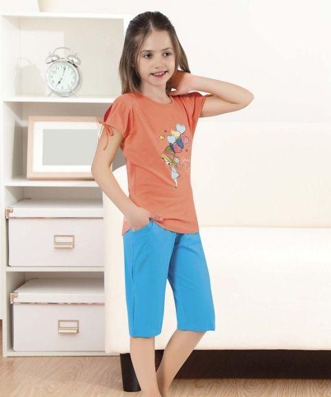 Kız Çocuk Kapri Takım HMD 6056