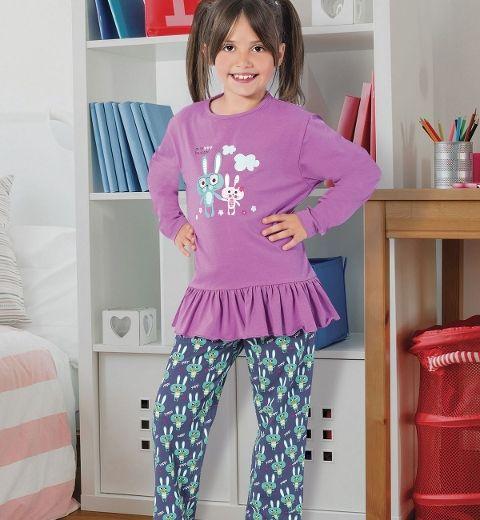 Kız Çocuk Pijama Takım Hmd 5266