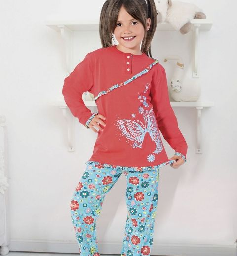 Kız Çocuk Pijama Takım Hmd 5267