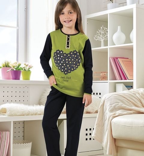Kız Çocuk Pijama Takım Hmd 6049