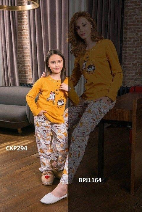 Kız Çocuk Pijama Takımı Pokemon 2li Takım Yeni İnci CKP294