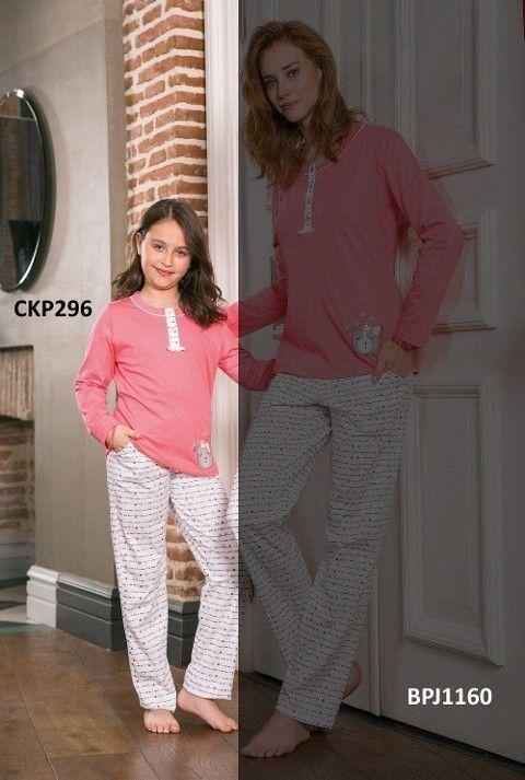 Kız Çocuk Pijama Takımı Süprem 2li Takım Yeni İnci CKP290
