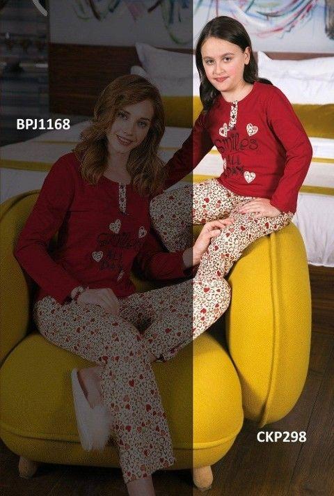 Kız Çocuk Pijama Takımı Süprem 2li Takım Yeni İnci CKP298