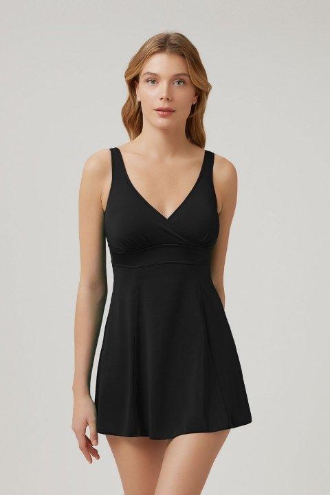 Kom Naora Elbise Mayo Siyah