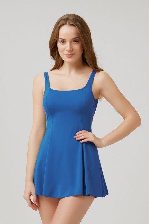 Kom Rota Elbise Mayo İndigo Mavi