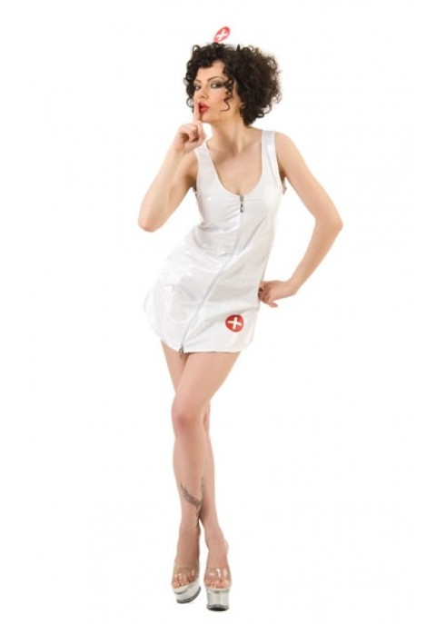 Hemşire Kostümleri La Blinque Seksi Lak Hemşire Kostüm 6027