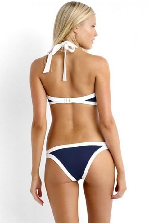 Tankini Lacivert Özel Tasarım Tankini Bikini