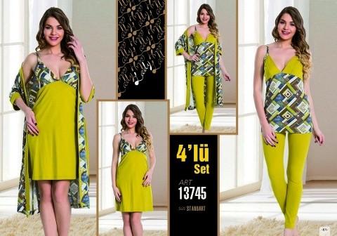 Lady 13745 4 Lü Takım
