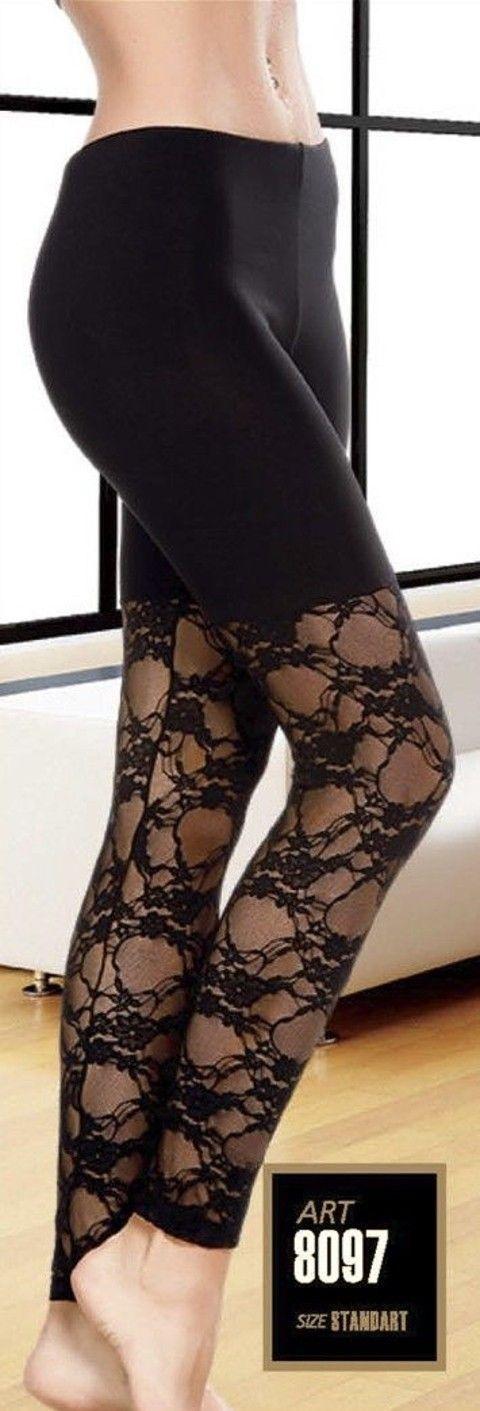 Lady Bacak Dantelli Uzun Tayt 8097