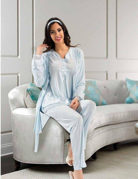 Lohusa 3 lü Pijama Takım XSES 2190