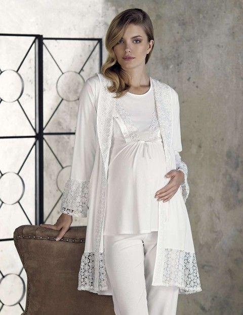 Lohusa Bayan Pijama Takımı 3 Lü Şardonlu Interlok Artış 2302
