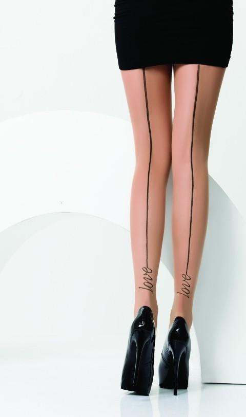Daymod Love Desenli Külotlu Çorap