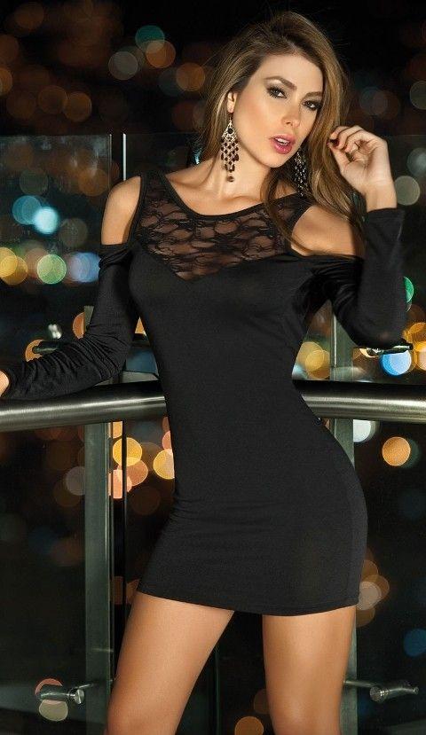 Maxpera Siyah Babydoll Ve Gece Elbisesi 3004