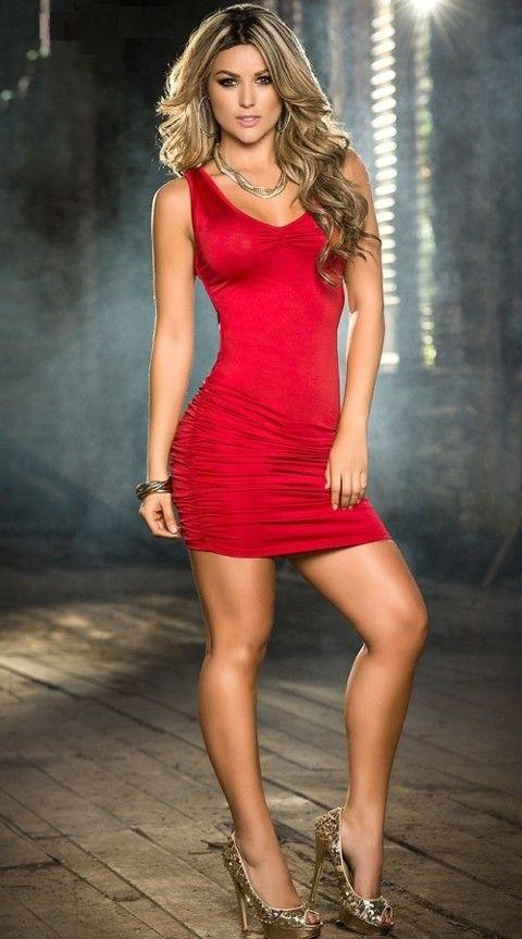 Gece Elbiseleri Merry See Kırmızı Arkası Çapraz Şık Elbise