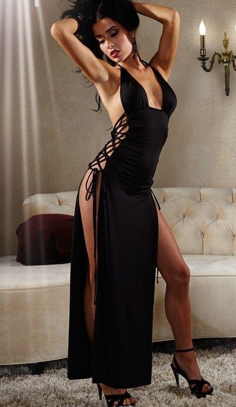Seksi Uzun Elbiseler Merry See Uzun Fantazi Gece Elbisesi