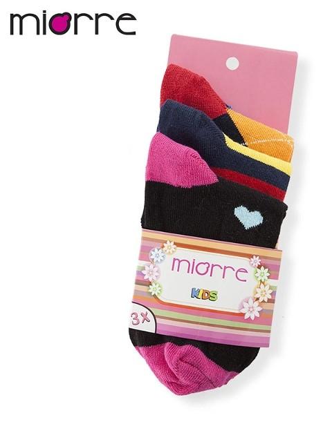 Miorre 3 Lü Kız Çocuk Çorabı